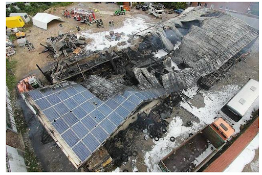 PV fire at a factory in Germany