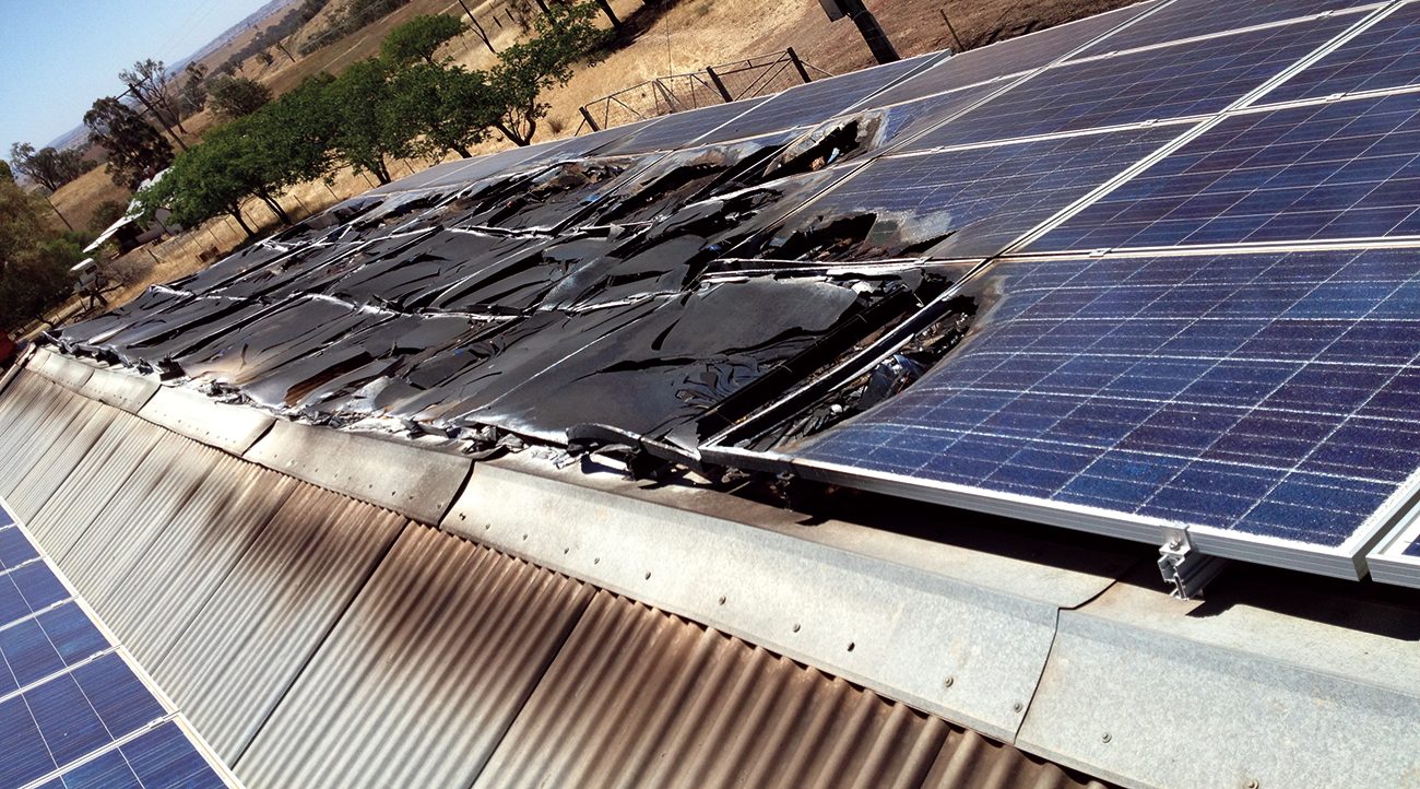 PV system after fire